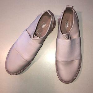 ASOS pale pink slip-on sneakers